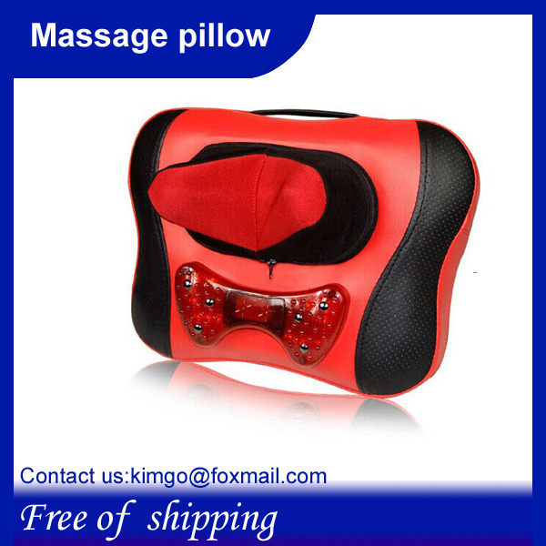 Free shipping,Wholesale and Retail,Walmart 2in1 Car&Chair Back Seat massage Heated Cushion for neck massaer neck relax russia(China (Mainland))