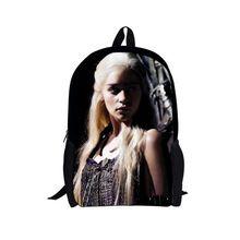 Free shipping trendy school bags for teenager girls,custom kids schoolbag children casual game of thrones dragon cartoon bag(China (Mainland))