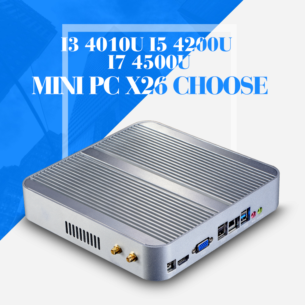 Mini PC I3 4010U I5 4200U I7 4500U 8GB RAM 128GB SSD+WIFI Mini Desktop Computer Fanless Thin Client 1920*1080(China (Mainland))