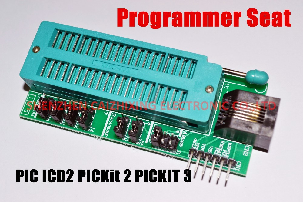 Free Shipping PIC ICD2 PICKit 2 PICKIT 3 Programming Adapter PICKIT2 PICKIT3 Universal Programmer Seat
