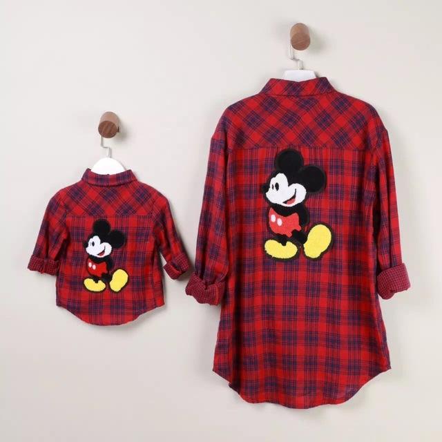 Семья одежда свободного покроя клетчатую рубашку / блузка одежды семьи мать и дочь ...