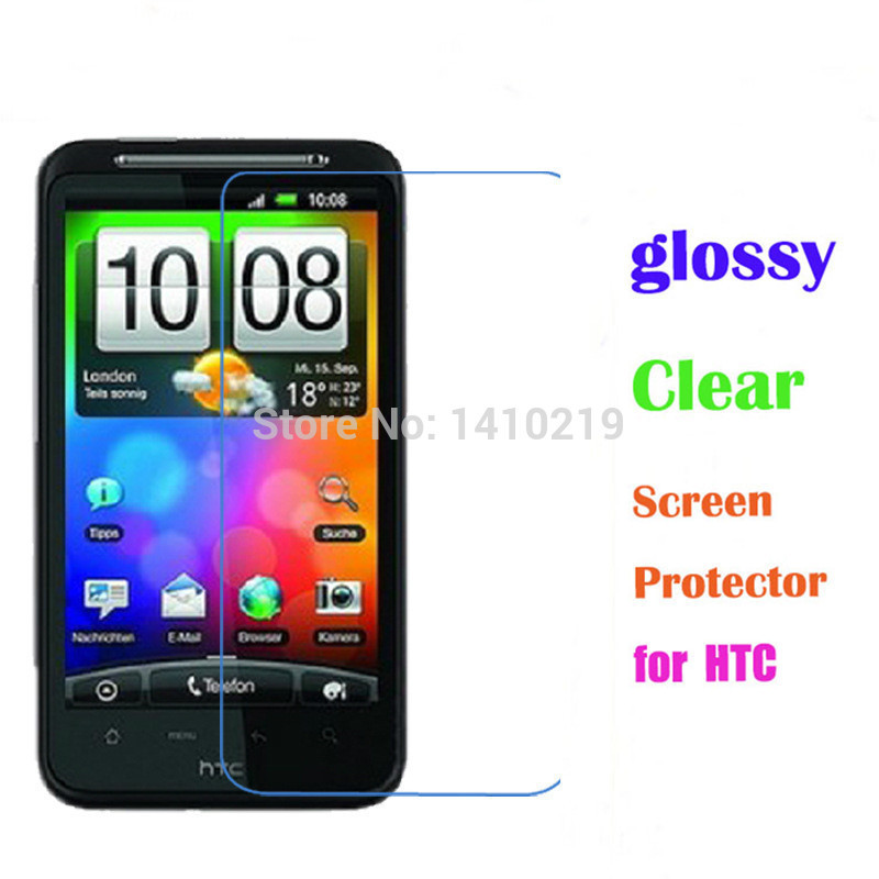Screen protector for HTC G10/Desire HD High Definition (HD) Clear Protector Retail Packaging Clear Screen Protector(China (Mainland))