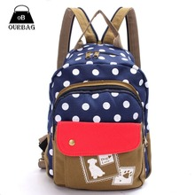 2 Style Satchel Polka Dog Dot Travel Girl Bags