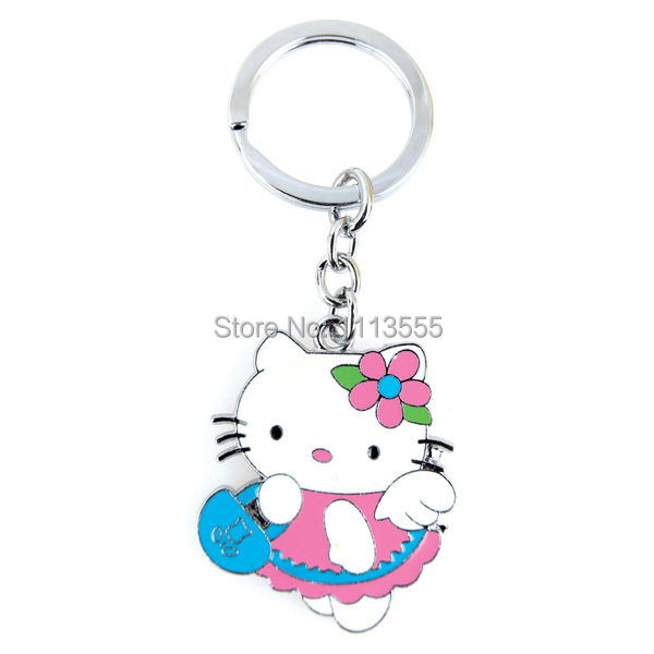 G063 Free Shipping Hello Kitty Key Chain Enamel Key Buckle High Quality For Sale .1 Piece/Pack.(China (Mainland))