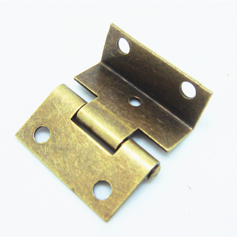 50pcs 25*24mm Packaging Hardware Small hinge three equivalent page 1 inch 5 hole hinge small cabinet hinges(China (Mainland))