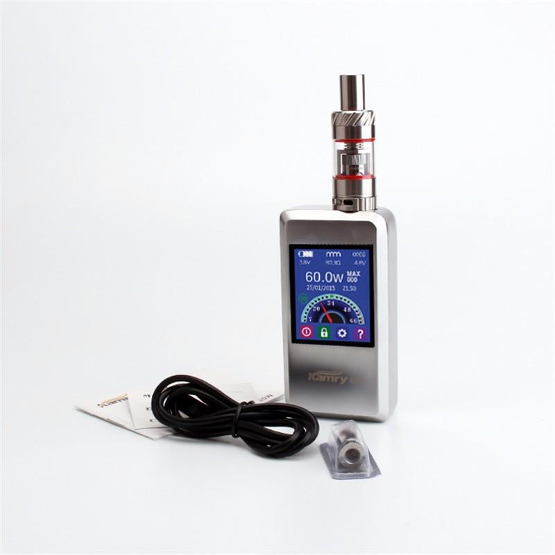 ถูก บุหรี่อิเล็กทรอนิกส์Eมอระกู่Kamry 60 Vapeกล่องชุดสมัย7-60วัตต์VaporizerสำหรับไอพายุEC 1เครื่องฉีดน้ำX1060