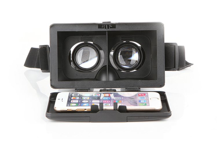 Polarized 3D Viewing Glasses Mirror Google Cardboard Virtual Reality VR Box Head Mount ABS Smartphone Helmet