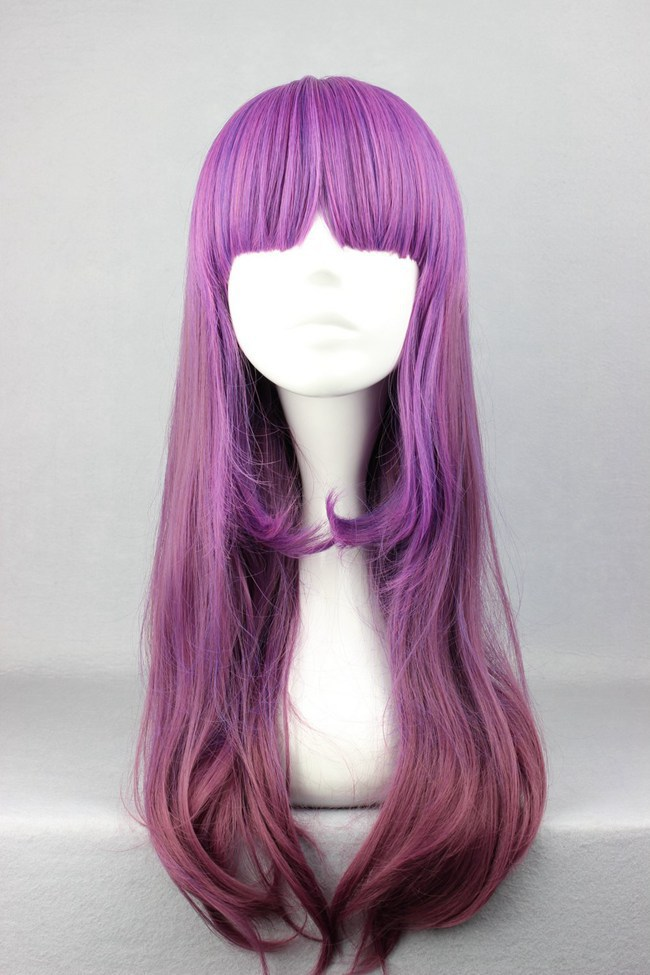 Great Bargain Fashion style beautiful 60CM long Curly design With Band Multi -color cosplay wig ombre lace front wig lolita wig(China (Mainland))