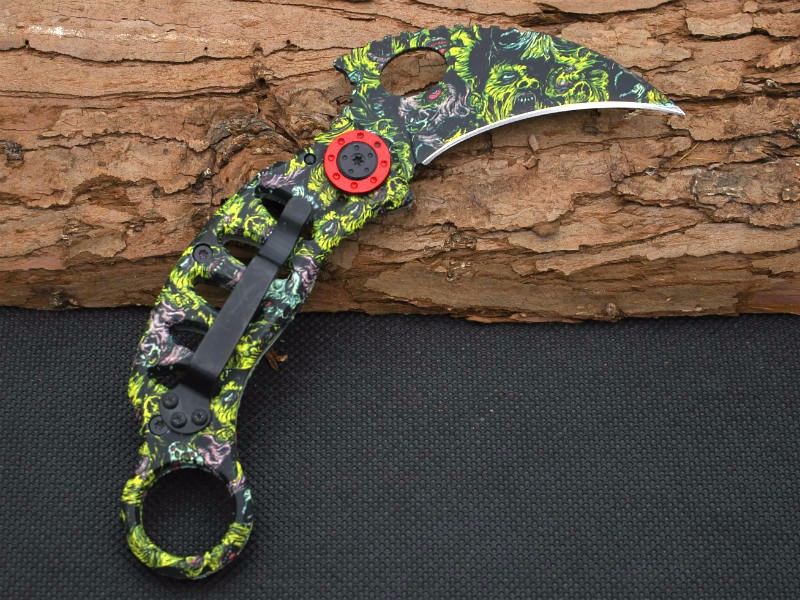 Buy New Karambit Claw Knife Mantis Folding Knife 440C Blade Survival Hunting Camping Tactical Knives Outdoor EDC Tools y50 cheap