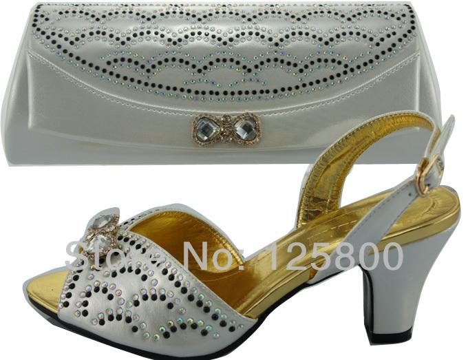 Ladies fashion wedding dress shoes w/ matching evening bag ...