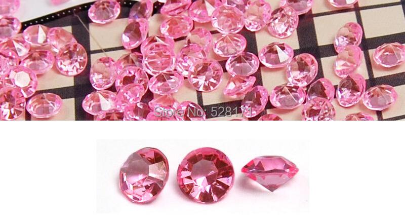10000 pieces 4.5mm Crystal Pink Acrylic Wedding Diamond Decoration/ Diamond Confetti Wedding Reception Table Scatter Decoration(China (Mainland))
