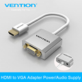 Vention HDMI to VGA Adapter Converter Cable with micro USB power 3 5mm audio interface for