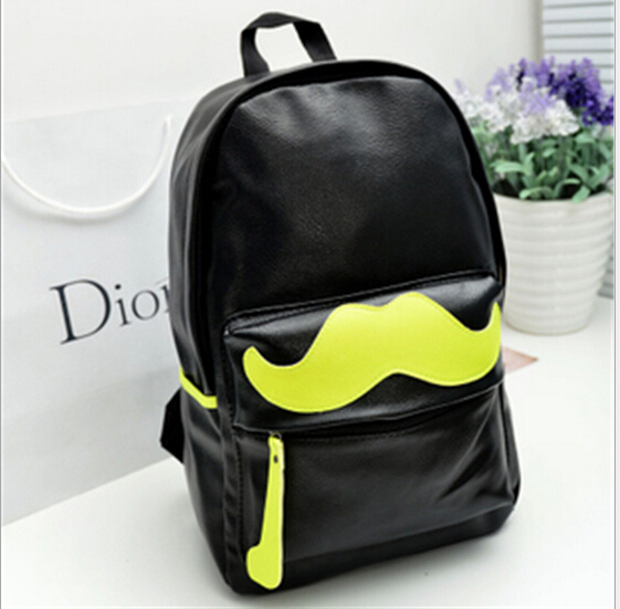 2015 new Korean PU leather shoulder bag tide bag middle school students bag package Hu children