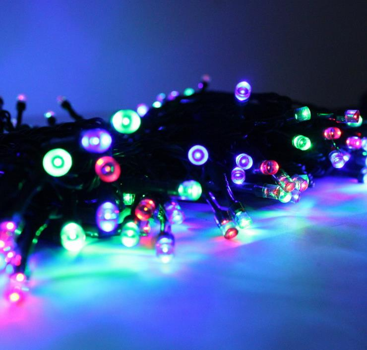 Christmas tree light Solar Garden twinkle light 50leds rainproof holiday/party decoration retailsale freeshipping(China (Mainland))
