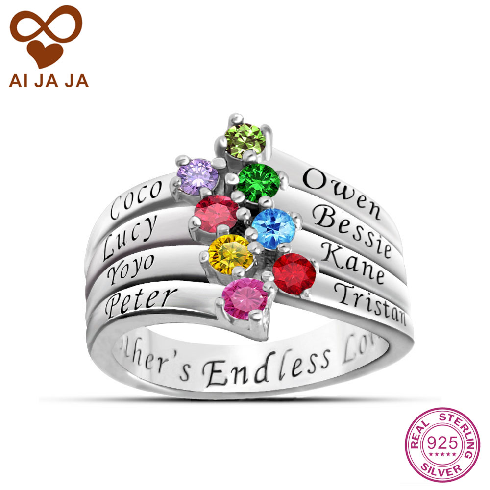 get cheap personalized mothers rings aliexpress