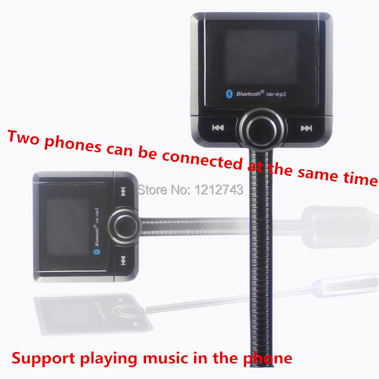The Newest 1.5 inch Hands Free Car Kit Bluetooth FM Modulator Car MP3 Player Bluetooth Car Kit fm Transmitter Free Shipping(China (Mainland))
