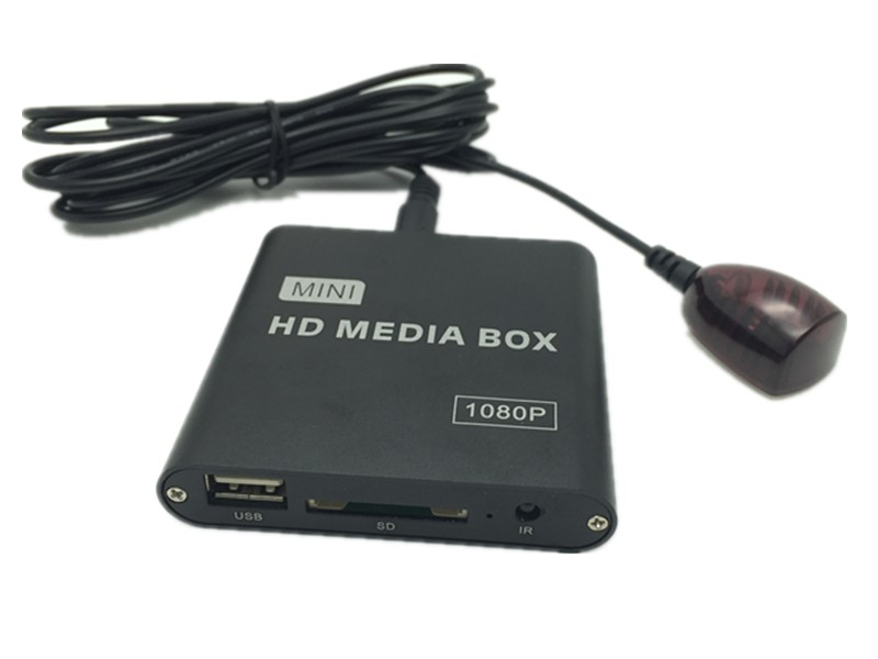 Full HD 1080P Car Media Player with IR Extender AVI DivX MKV DVD MP3 Player HDMI,AV output,SD/MMC/USB Host,Gift&Free Shipping(Hong Kong)