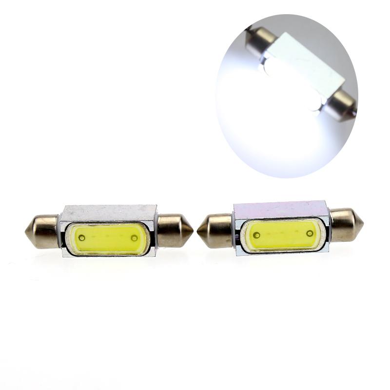 2pcs led festoon cob 36mm /39mm /41mm led car bulb auto interior light dome lamp 3w led 12v reading lights car styling(China (Mainland))