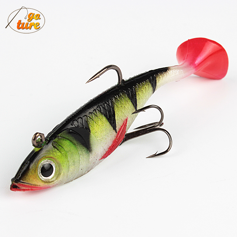 Goture 11g 8.5cm Fishing lures soft bait luminous lead fish artificial bait jig wobblers rubber silicon 5Piece<br><br>Aliexpress
