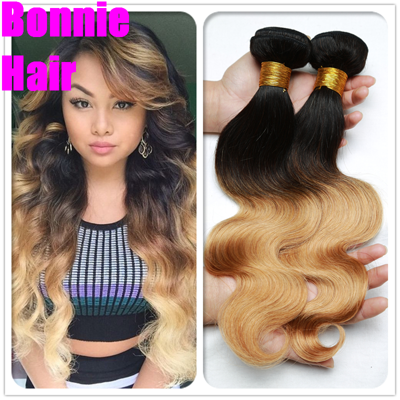 Discount Malaysian Ombre Virgin Hair 1B/27 Malaysian Body Wave Two Tone Human Hair Ombre Hair Extensions 3Pcs/Lot Free Shipping<br><br>Aliexpress