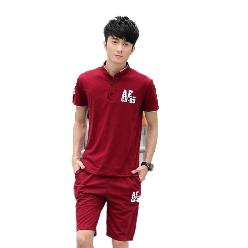 2 Pcs 2015 New Mens Fashion Sports Suit Summer Style