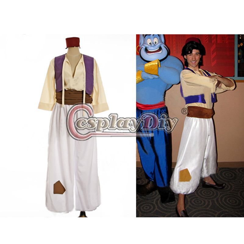 Custom Made Aladdin Lamp Prince Aladdin Costume For Adult Man Dance Party Movie Cosplay Costume(China (Mainland))