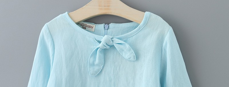 retail wholesale Girls blouse autumn long sleeved bow tie collar shirt 2016 children clothing for baby girls blusas infantil
