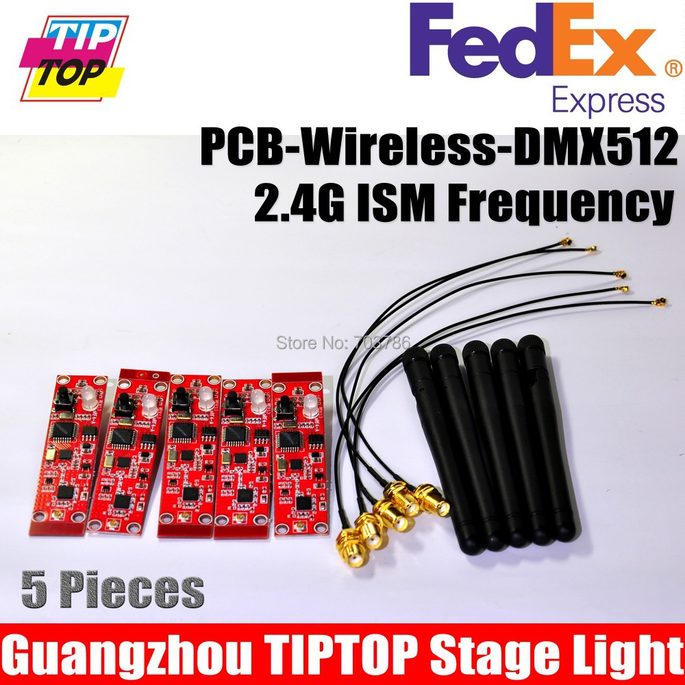 5pcs/lot PCB 2.4G DMX Wireless Receiver Module of DMX Wireless Stage Light PCB Board DMX Signal Receiver For LED Stage Light<br><br>Aliexpress