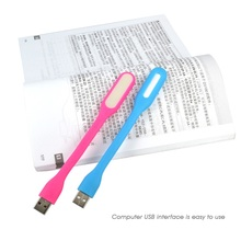 Flexible USB LED Light 1.2W Foldable Ultra Bright Mini Lamp For PC Laptop Computer Power Bank Partner Convenient for reading