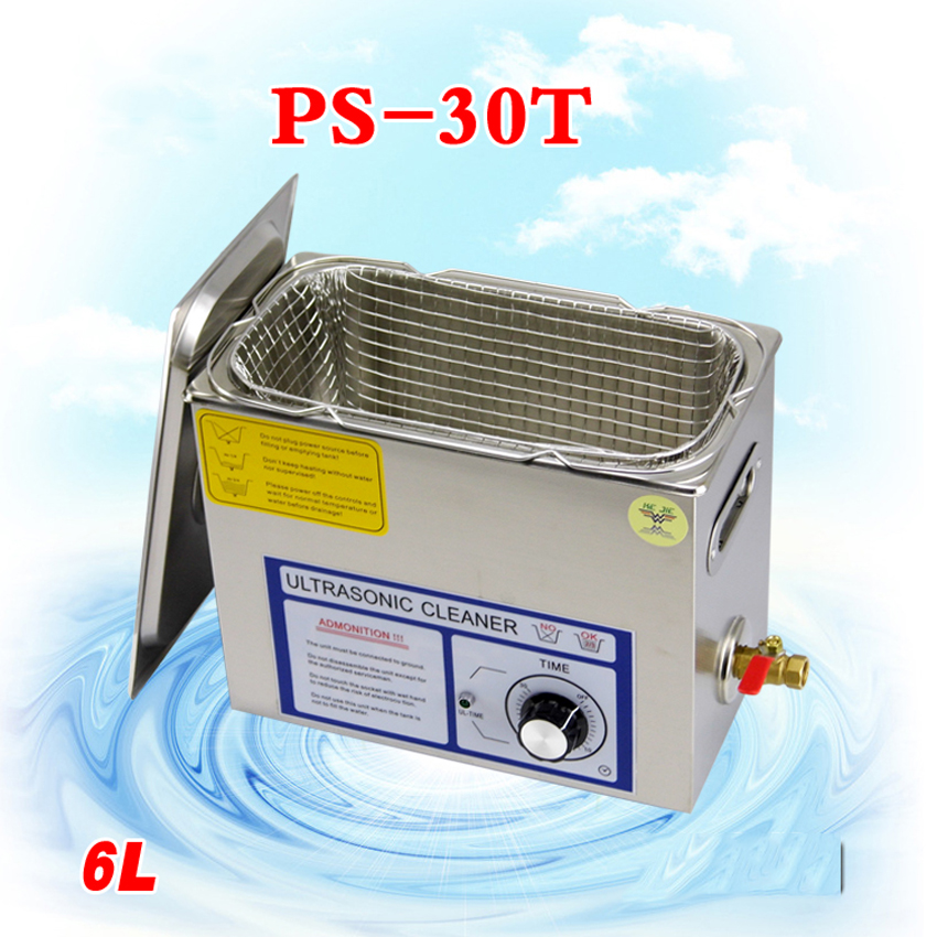 FreebyDHL 3PC110V/220V PS-30T 180W6L Ultrasonic cleaning machines circuit board parts laboratory cleaner/electronic products etc(China (Mainland))