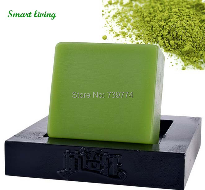 Tea Beauty Face Care Matcha Essential Facial And Body Whitening Soap Anti Acne Oil Nature Soft Handmade With Best Price(China (Mainland))