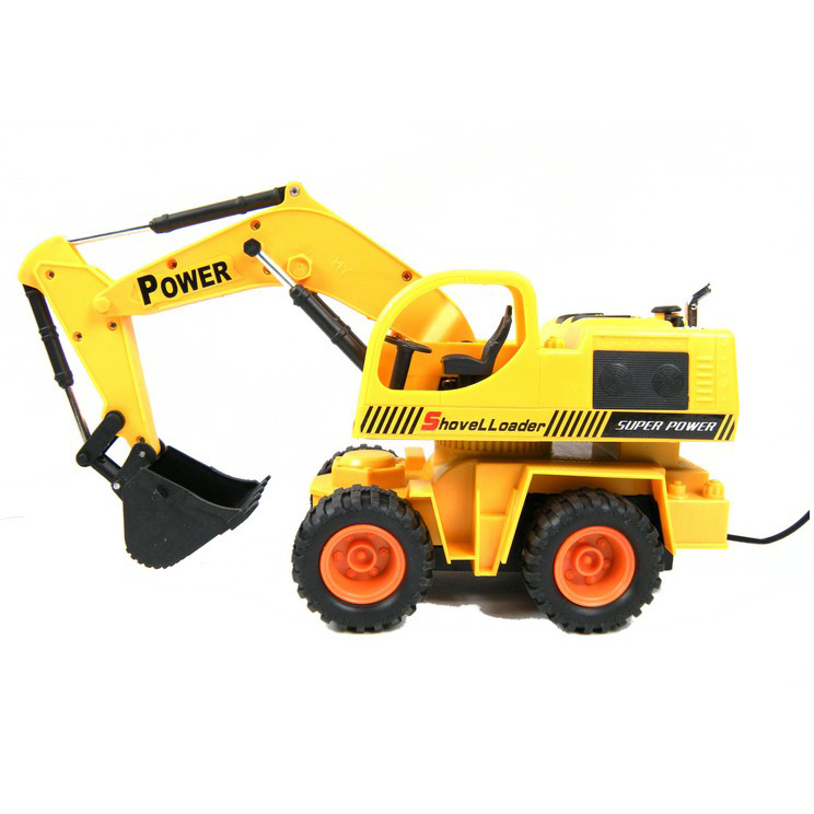 678-8035 RC Excavator Remote Control Toy Power Shovel Loader Digging Truck Excavating Machine Digger Engineering Van Radio Model(China (Mainland))