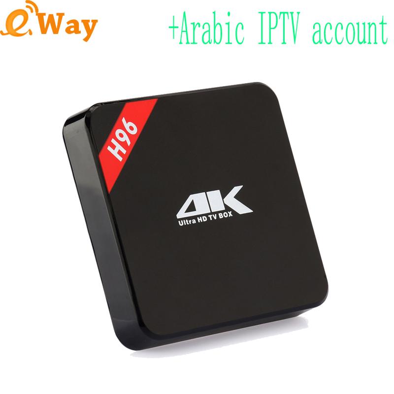 H96 quad core Android 5.1 Smart TV Box 1G 8G WIFI Media player KODI + 1 Year Arabic IPTV code EXYU Italy sports HD Dutch French(China (Mainland))