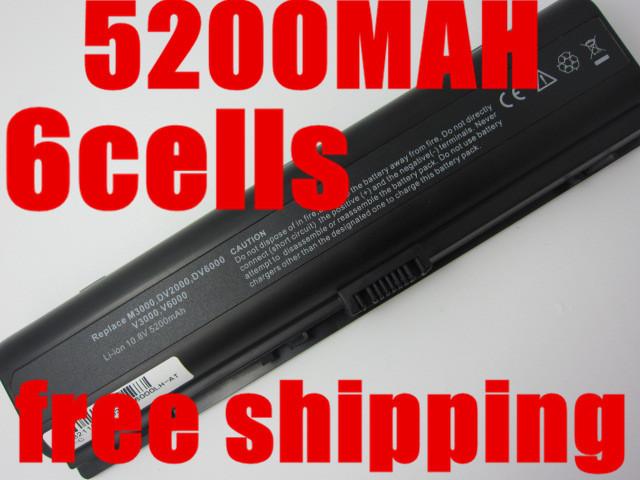 5200mAH laptop Battery For HP Pavilion DV2000 DV2700 DV6000 DV6700 DV6000Z DV6100 DV6300 DV6200 DV6400 DV6500 DV6600 HSTNN-LB42(China (Mainland))
