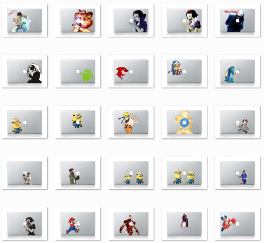 453 patterns For Macbook Sticker Vinyl decal Laptop skin sticker newest mix order for MacBook Air pro