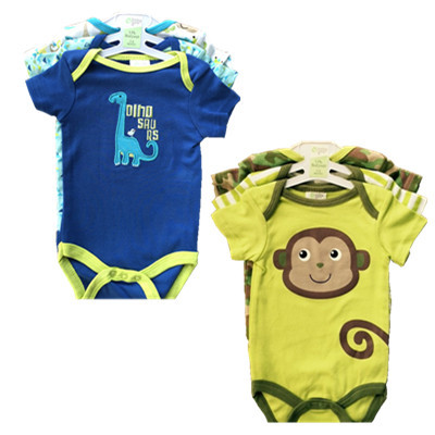 2015 Baby Short Sleeve Clothing Cartoon Cotton Romper Infant Rompers Toddler Boy's Girl's Wear Baby Romper Overall Clothes S-11(China (Mainland))