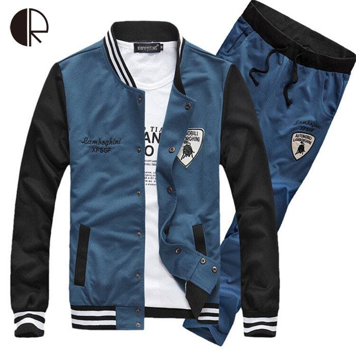 2015 New mens track suit zipper stand collar letter pattern jogging hoodeis men sports cloth moleton masculino MH159(China (Mainland))