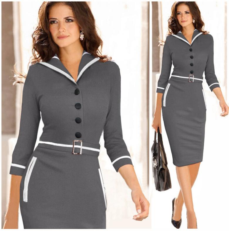 Clothes Travel Picture More Detailed Picture About 2015 Autumn Elegant Belted Bandage Office