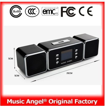 MUSIC ANGEL JH-MAUK9 Wireless Portable Remote Amplifier LCD Screen USB Powerful Bass Rechargeable Speaker(China (Mainland))