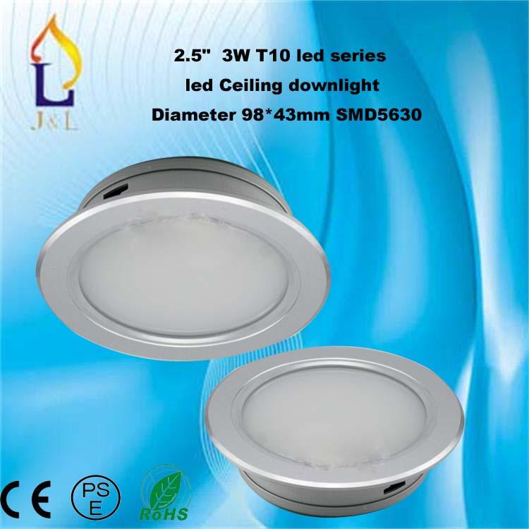 Fedex free shipping-T10 LED series down light,3W,5W,7W,9W,12W,15W,20W LED downlight, white/warm white AC85-265V(China (Mainland))