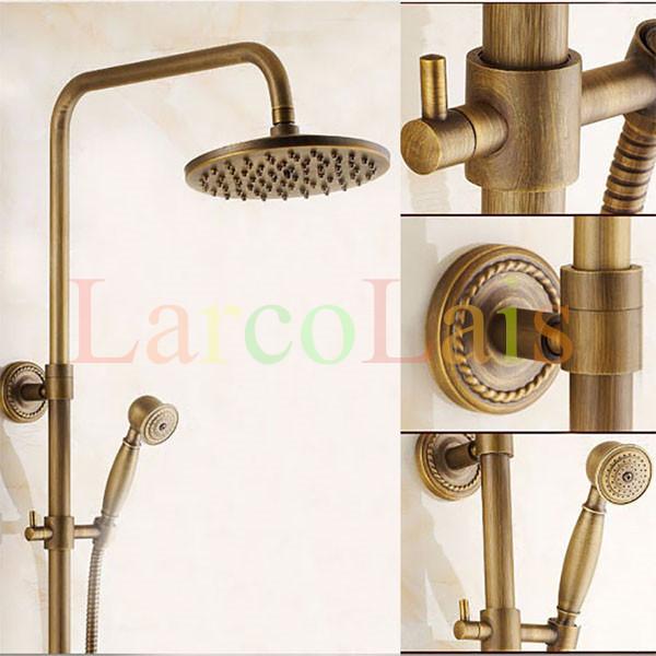 Bathroom bathhouse tub shower antique brass faucet with 8 - Grifos de laton ...