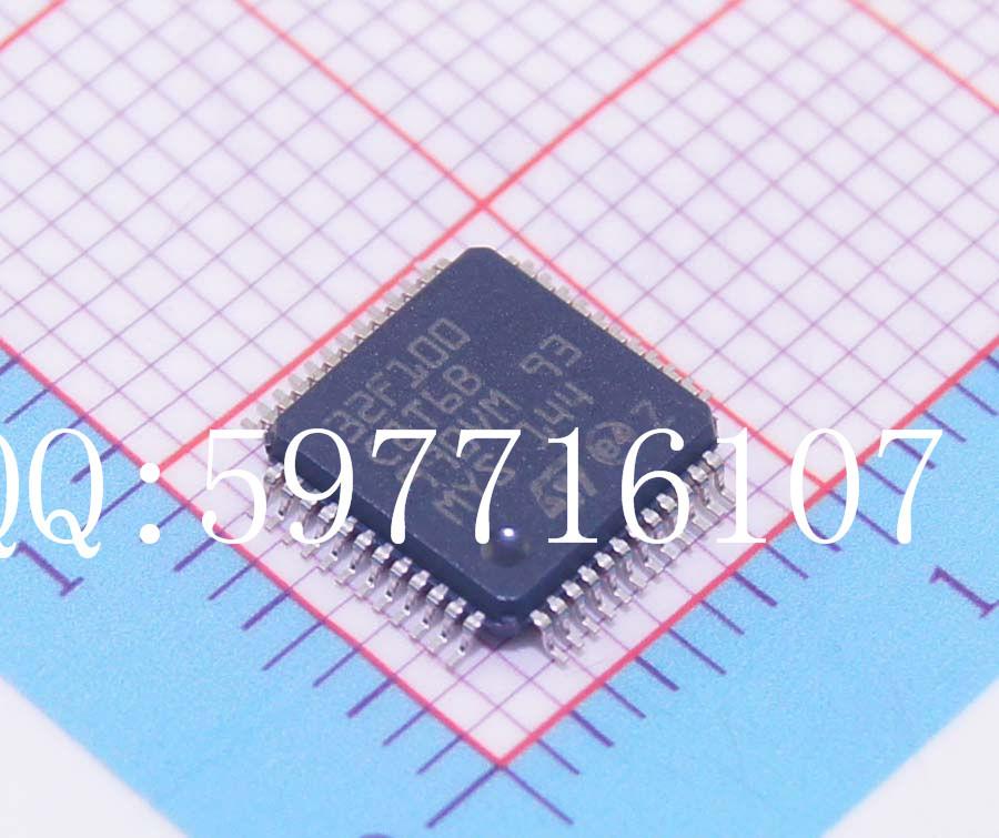 STM32F100C8T6B MCU 32-bit STM32F1 ARM Cortex M3 RISC 64KB Flash 2.5V/3.3V 48-Pin LQFP Tray(China (Mainland))