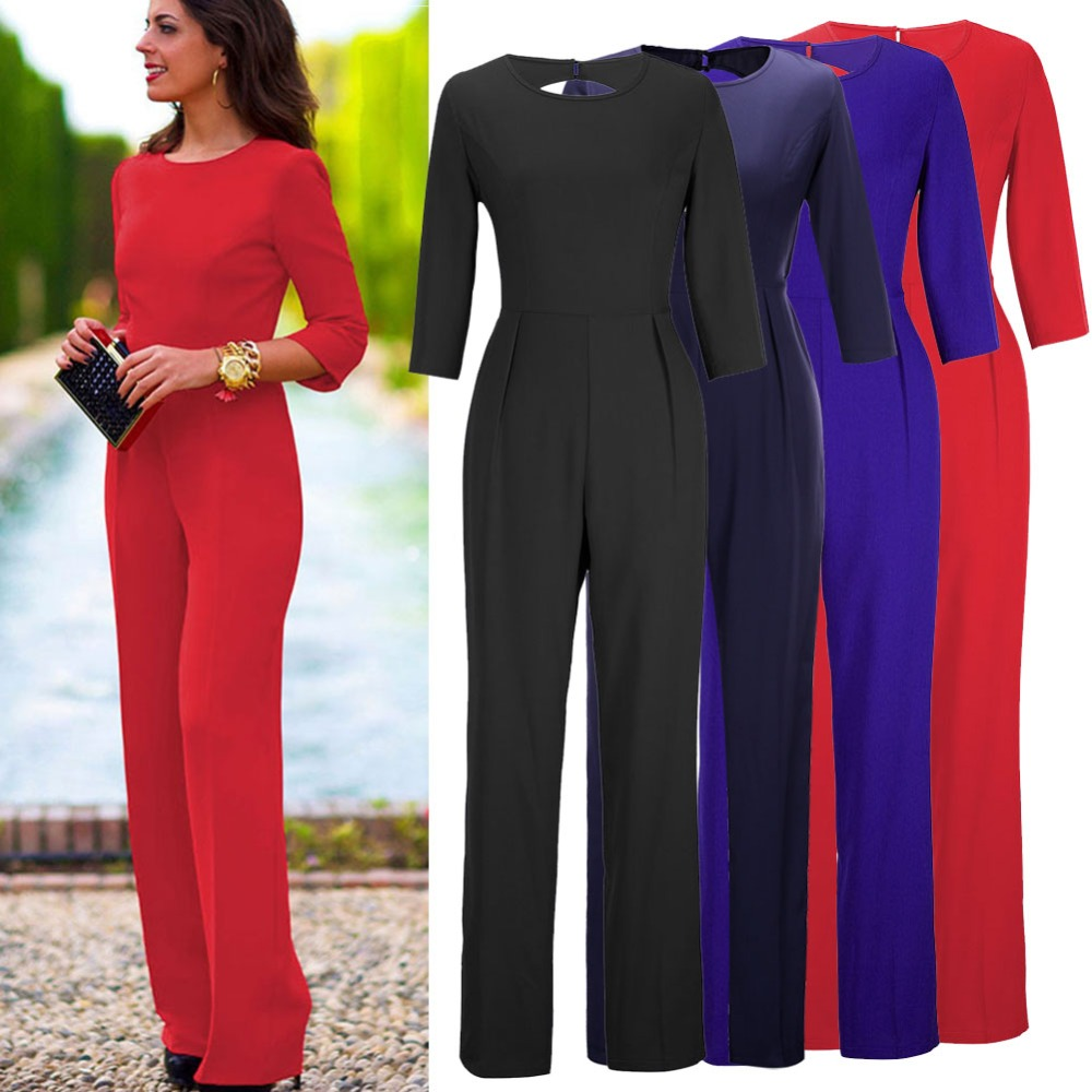 Brilliant Plunge Strapless Jumpsuit For Women With Blue Sandals