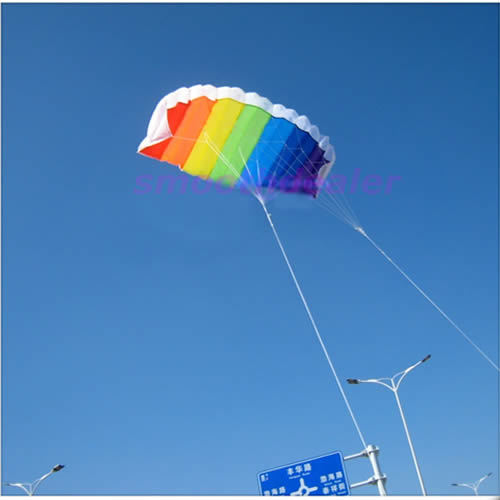 """Y92"""" New 2M Dual Line Stunt Parafoil Kite Power Soft Parachute Rainbow Sports Kite For Beginner Promotion(China (Mainland))"""
