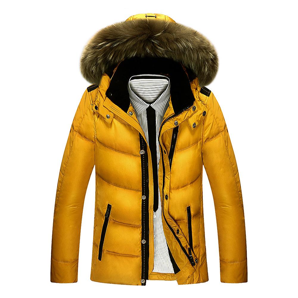Man Winter Parkas Men's Down Coat Size Jeep Men's White Duck Down Jacket With Fur Hood Parkas
