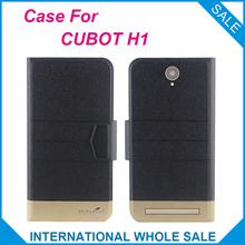 5 Colors Hot! CUBOT H1 Case New Fashion Business Magnetic clasp Ultrathin,High quality Flip Leather Case For CUBOT H1
