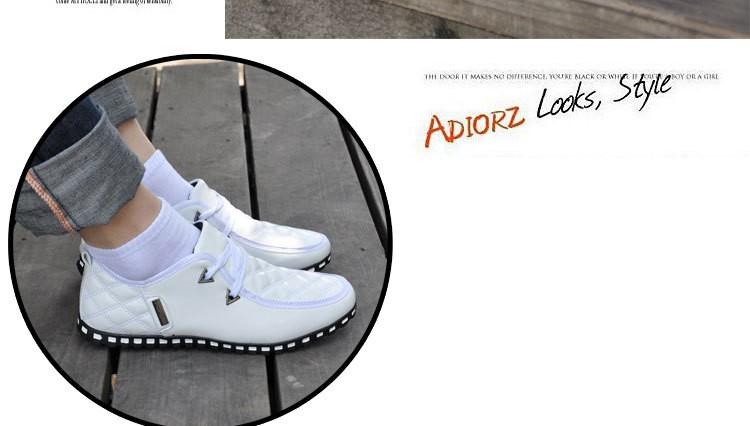 Yeni Sonbahar Ve Kış Moda Yeni Erkekler Ayakkabı Rahat Ayakkabılar Erkekler yassı Ayakkabı Erkekler Bağcık Pamuk Yastıklı Daireler PU Artı Boyutu Ücretsiz Shippi