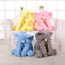 2016 New Arrival 60CM Gray Elephant Plush Doll With Long Nose Cute PP Cotton Stuffed Baby Super Soft Appease Elephants Toys(China (Mainland))