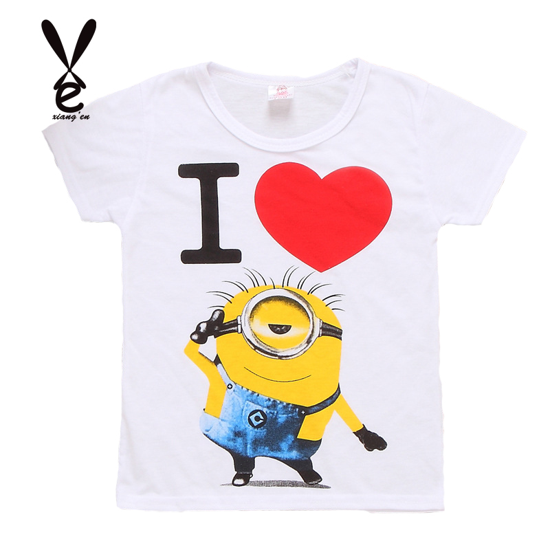Hot Sale NEW Boy Grils T shirt cartoon anime figure  Minions clothes minion costume childrens clothing children shirts<br><br>Aliexpress