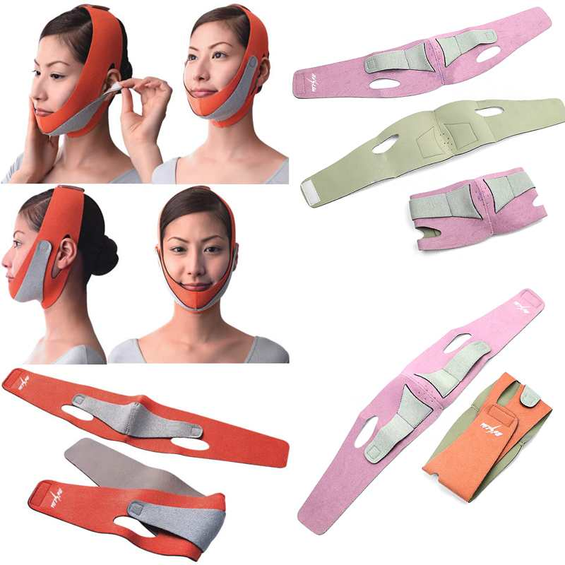 Health Care Thin Face Mask Slimming Facial Thin Masseter Double Chin Skin Care Thin Face Bandage Belt 6190-6191(China (Mainland))